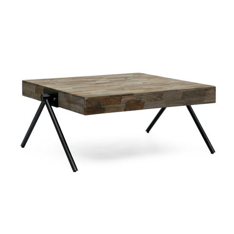 Handcrafted Modern Industrial Mango Wood Coffee Table - NH316313