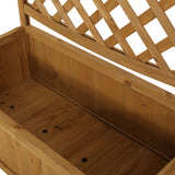 Traditional Rectangular Firwood Planter Box with Trellis - NH905313