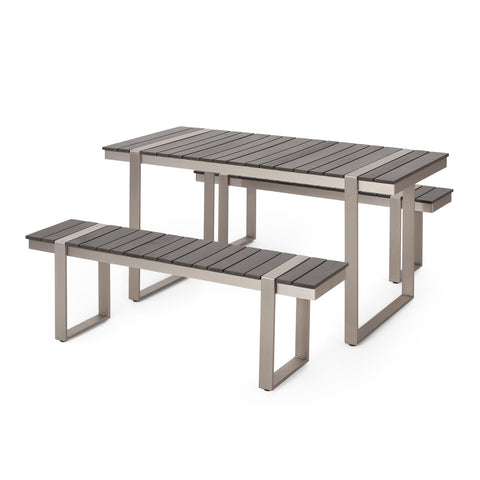 Outdoor 3 Piece Aluminum Picnic Set - NH127313