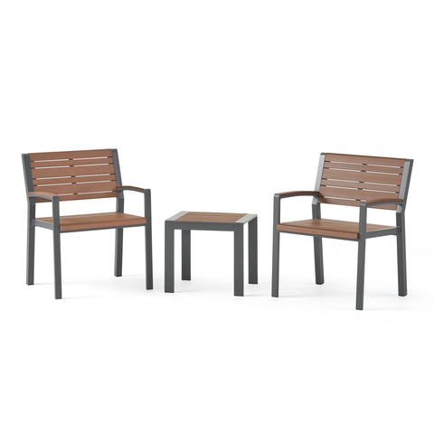 Outdoor 3 Piece Aluminum Chat Set - NH067313