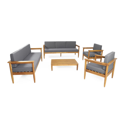 Outdoor Acacia Wood 8 Seater Chat Set - NH326313