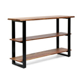 Handcrafted Modern Industrial Acacia Wood Media Console Table - NH116313