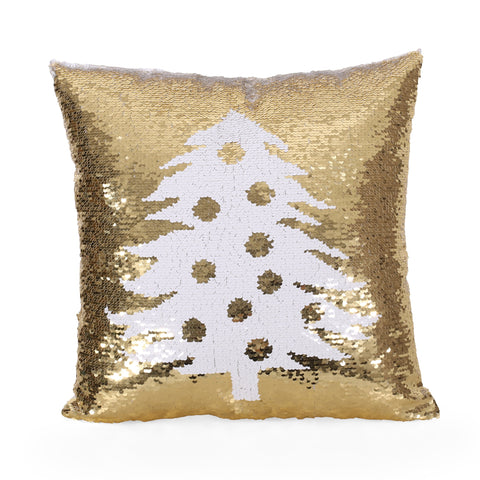 Glam Sequin Christmas Throw Pillow - NH287313