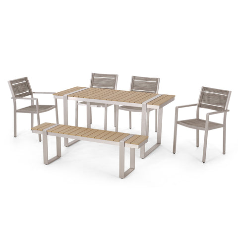 Outdoor 6 Piece Aluminum Dining Set - NH737313