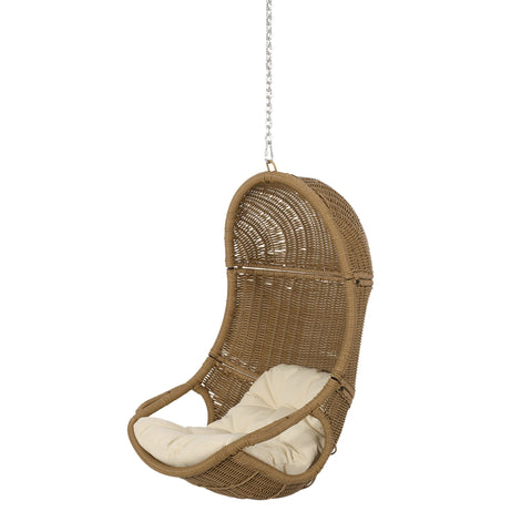 Outdoor/Indoor Wicker Hanging Chair with 8 Foot Chain (NO STAND) - NH700413