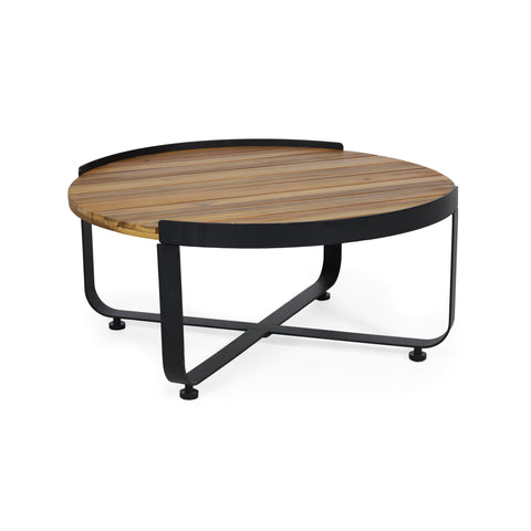 Outdoor Modern Industrial Acacia Wood Coffee Table - NH751313