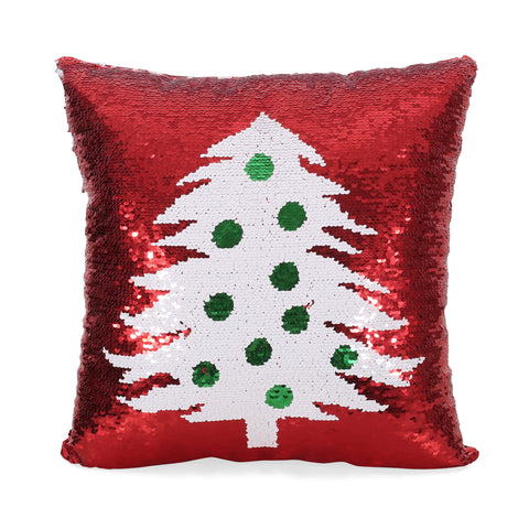 Glam Sequin Christmas Throw Pillow - NH687313