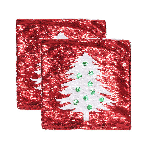 Glam Sequin Christmas Throw Pillow Cover - NH587313