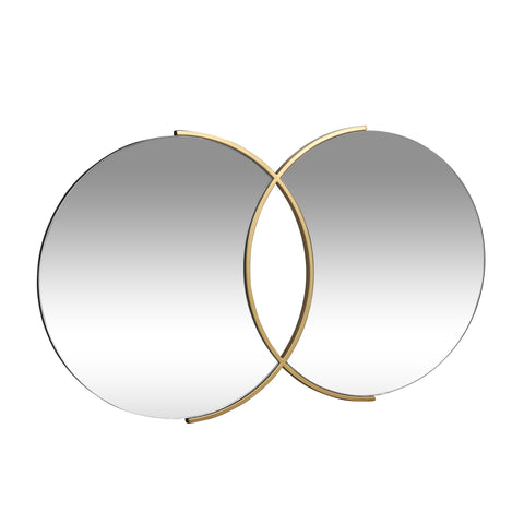 Modern Glam Overlapping Round Wall Mirror - NH935313