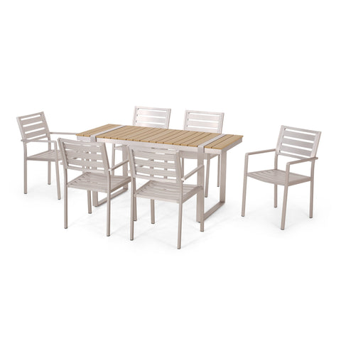 Outdoor 7 Piece Aluminum Dining Set - NH227313