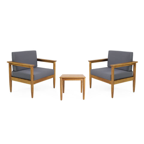 Outdoor Acacia Wood 2 Seater Chat Set - NH026313