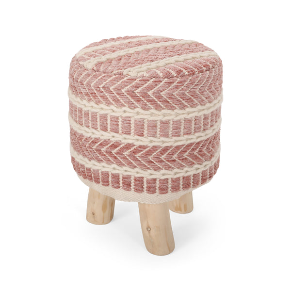 Handcrafted Boho Fabric Stool - NH993313