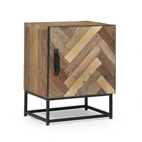 Handcrafted Boho Wooden Nightstand - NH623313