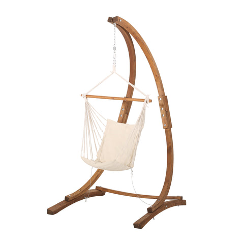 Outdoor Fabric Swing Hammock Chair with Stand - NH346313