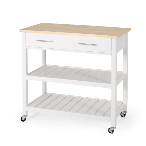 Contemporary Kitchen Cart with Wheels - NH393413