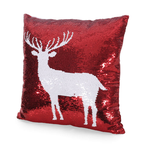 Glam Sequin Christmas Throw Pillow Cover - NH677313