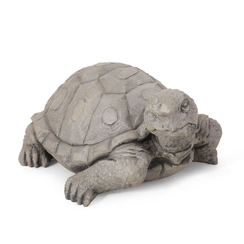 Outdoor Turtle Garden Statue, Dark Gray - NH753413