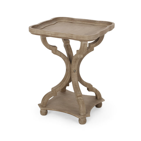 French Country Accent Table with Square Top - NH881313