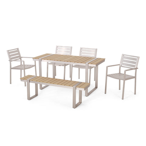 Outdoor 6 Piece Aluminum Dining Set - NH137313