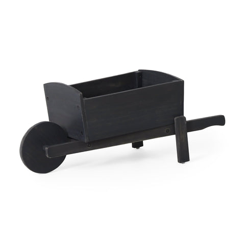 Outdoor Acacia Wood Wheelbarrow Planter - NH921413