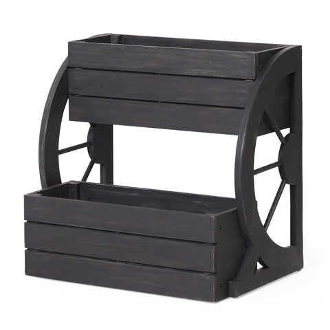 Outdoor 2 Tier Acacia Wood Planter - NH031413