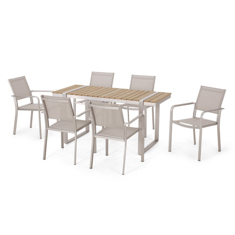Outdoor 7 Piece Aluminum Dining Set - NH527313