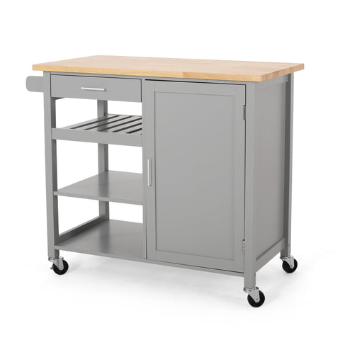 Contemporary Kitchen Cart with Wheels - NH861313