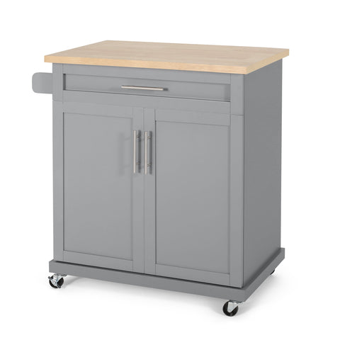 Contemporary Kitchen Cart with Wheels - NH204413