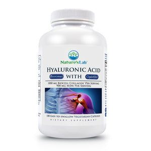Hyaluronic Acid with BioCell Collagen® and OptiMSM® 180 capsules