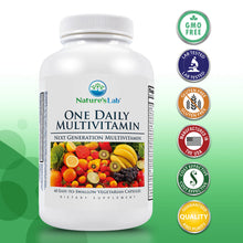 Load image into Gallery viewer, Nature's Lab One Daily Multivitamin 60 Capsules Primary
