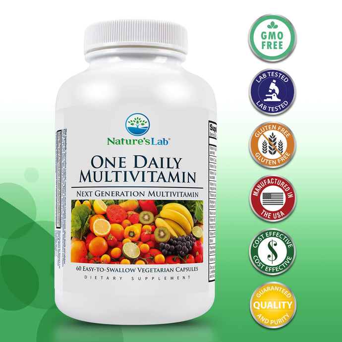 Nature's Lab One Daily Multivitamin 60 Capsules Primary