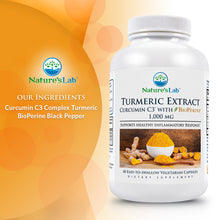 Load image into Gallery viewer, Turmeric Curcumin C3® with BioPerine® 60 capsules