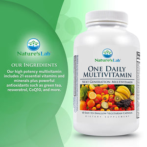 Nature's Lab One Daily Multivitamin 60 Capsules Ingredients