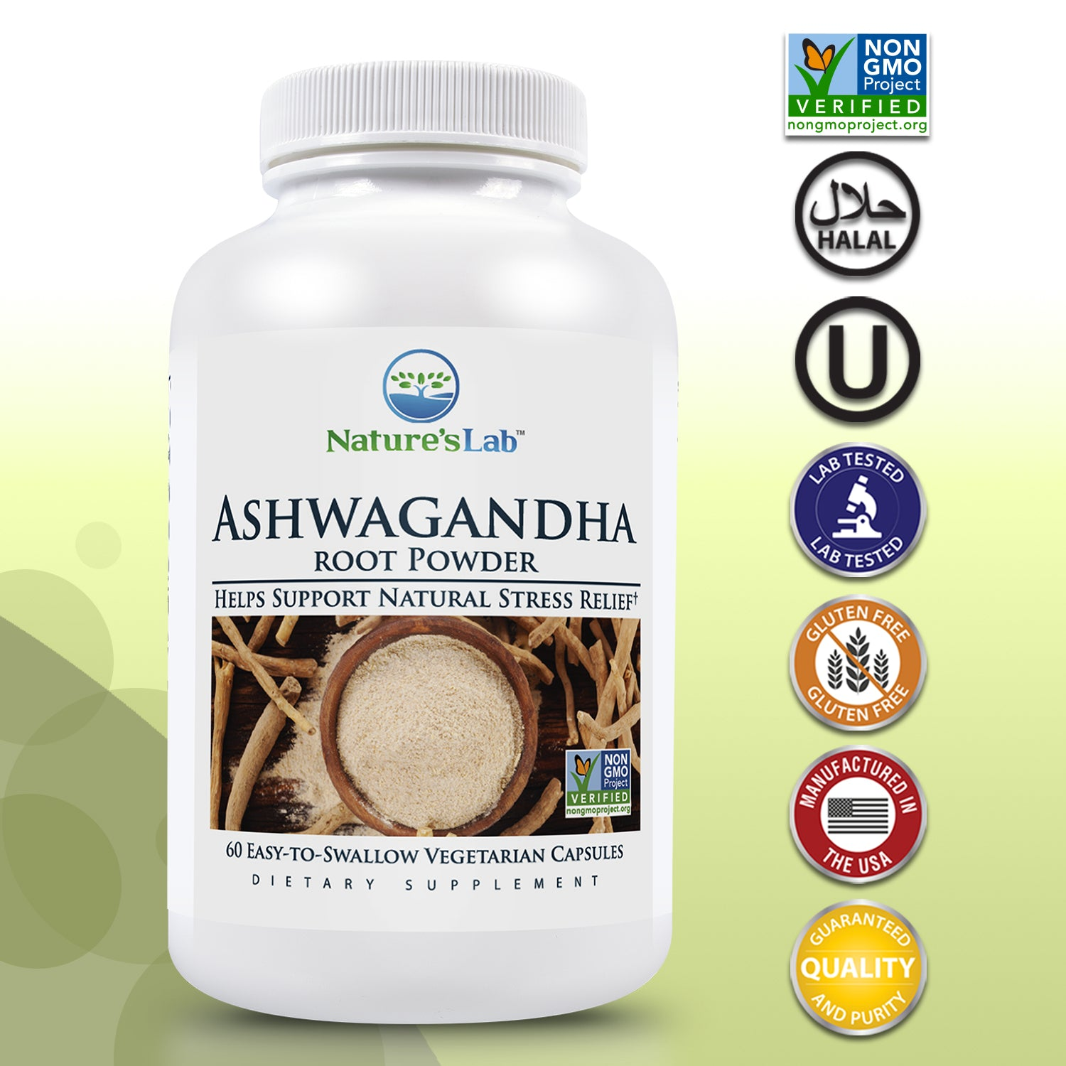 Ashwagandha Root Powder 60 capsules