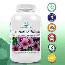 Load image into Gallery viewer, Nature's Lab Echinacea 760mg 100 capsules Primary