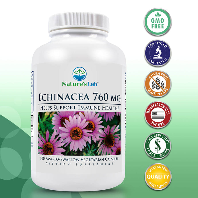 Nature's Lab Echinacea 760mg 100 capsules Primary