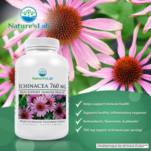 Load image into Gallery viewer, Nature's Lab Echinacea 760mg 100 capsules Benefits