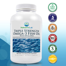 Load image into Gallery viewer, Triple Strength Omega-3 Fish Oil 180 softgels