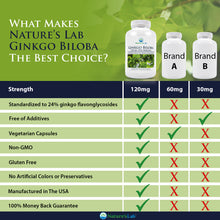 Load image into Gallery viewer, Ginkgo Biloba 60 capsules