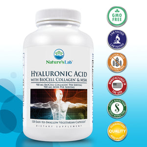 Hyaluronic Acid with BioCell Collagen® and MSM 120 capsules