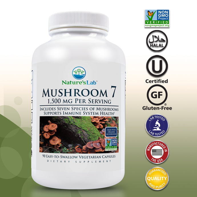 Nature's Lab Mushroom 7 90 capsules Primary