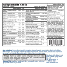 Load image into Gallery viewer, Nature's Lab One Daily Multivitamin 60 Capsules Supplement Facts