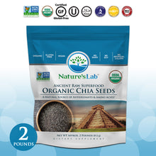 Load image into Gallery viewer, Organic Black Chia Seeds 2 lb bag