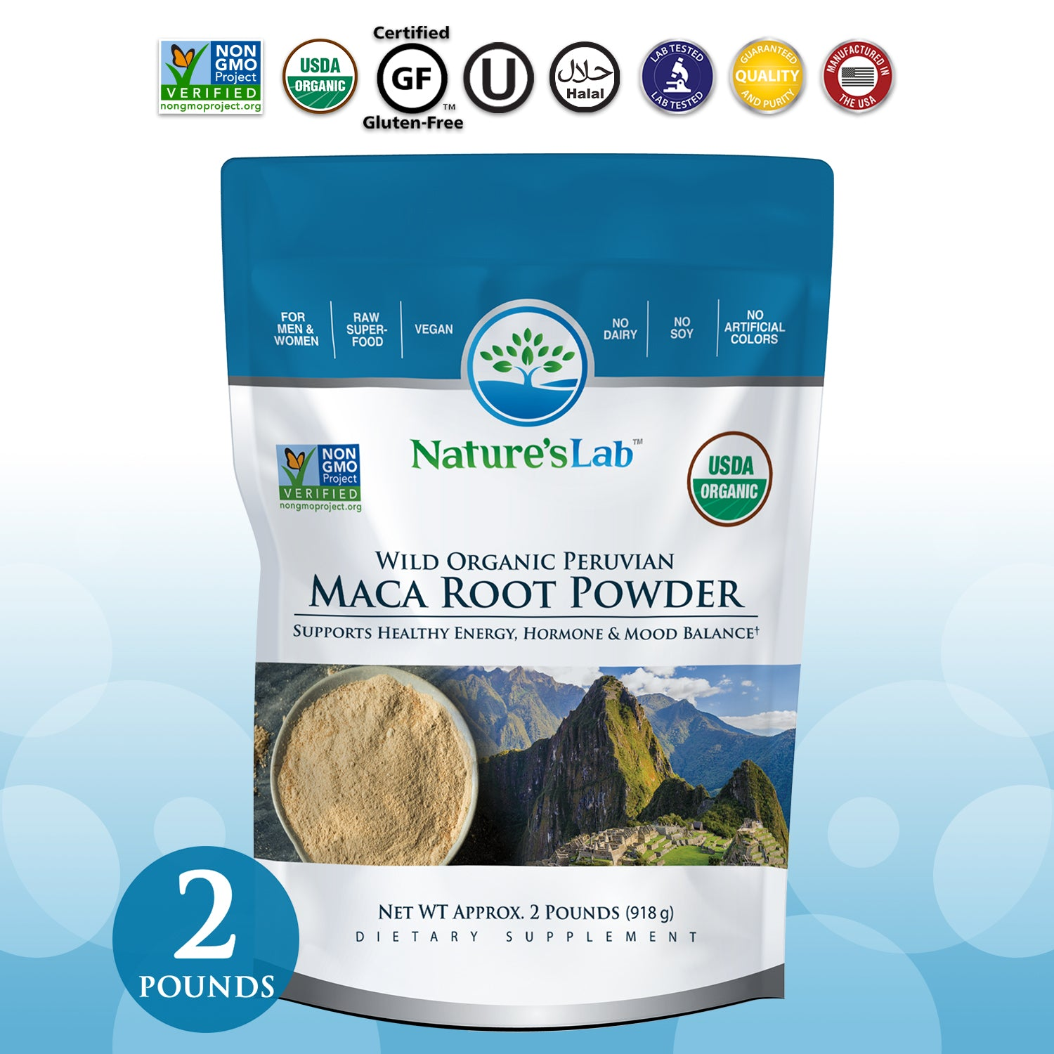 Organic Maca Root Powder 2 lb bag