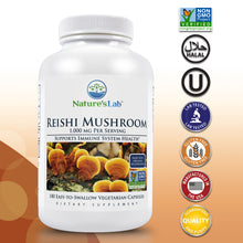 Load image into Gallery viewer, Reishi Mushroom 1000 mg 180 capsules