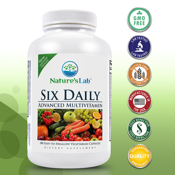 Six Daily Advanced Multivitamin 180 capsules