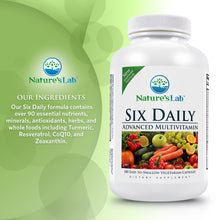 Load image into Gallery viewer, Six Daily Advanced Multivitamin 180 capsules