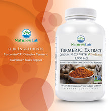 Load image into Gallery viewer, Turmeric Curcumin C3® with BioPerine® 120 capsules