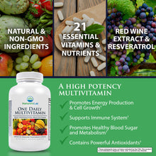 Load image into Gallery viewer, Nature's Lab One Daily Multivitamin 60 Capsules Benefits