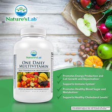 Load image into Gallery viewer, Nature's Lab One Daily Multivitamin 60 Capsules Info